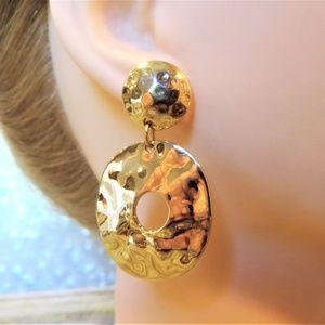 dangle pierced earrings statement glam bling bold